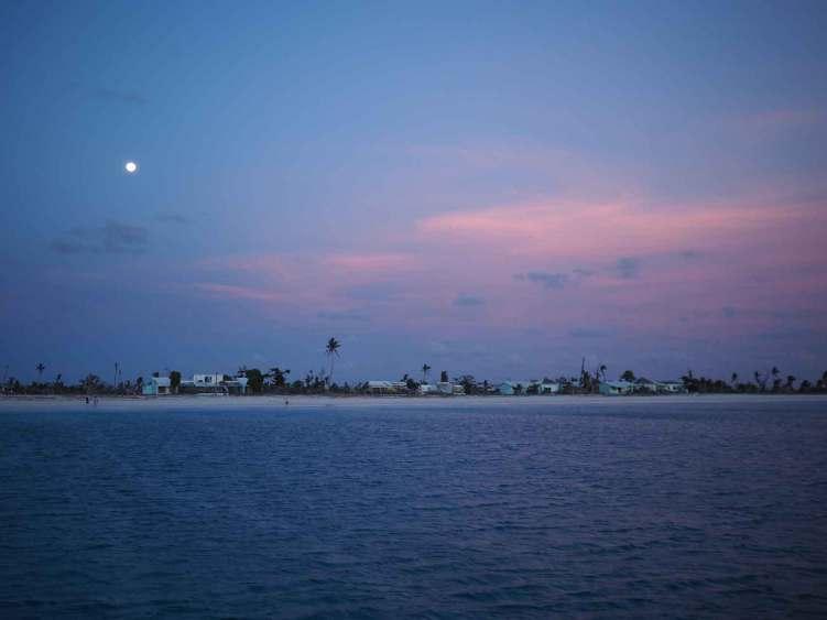 Clair de lune sur Barbuda, à la pointe sud de l'île.