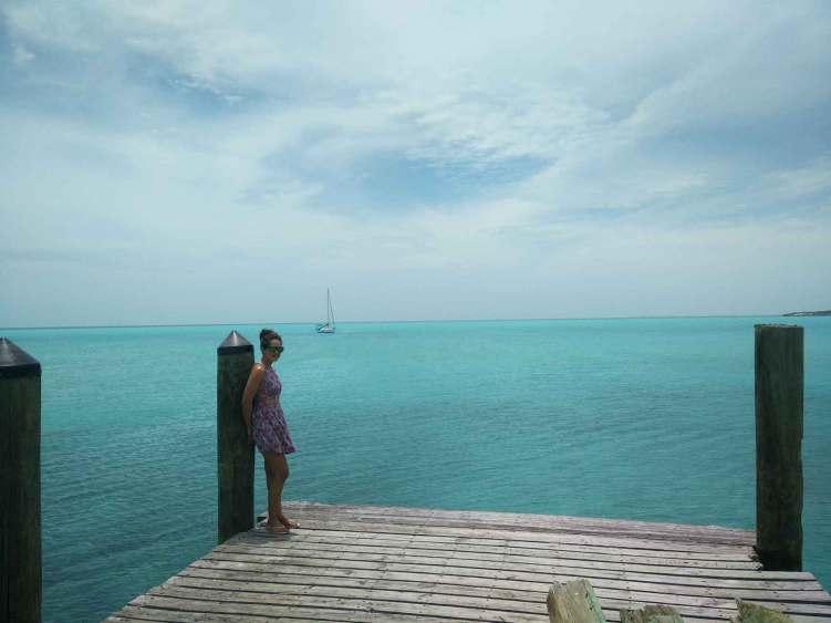 Mouillage devant Black Point, aux Exumas dans les Bahamas.