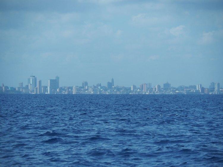 Navigation au nord de La Havane devant Cuba.