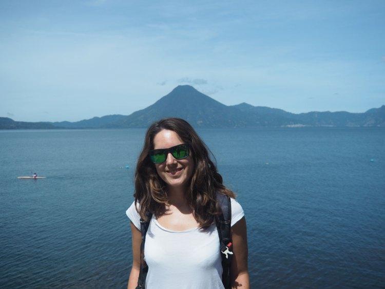 Vue sur les volcans du lac Atitlán, au sud du Guatemala.
