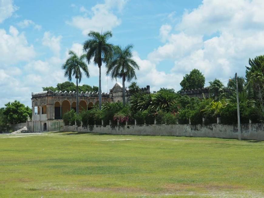 Parc de l'hacienda Yaxcopoil au sud de Mérida, au Mexique.