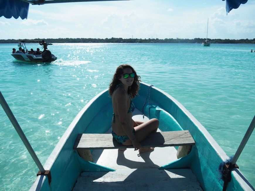 Canal de los piratas dans la lagune de Bacalar, au Mexique.