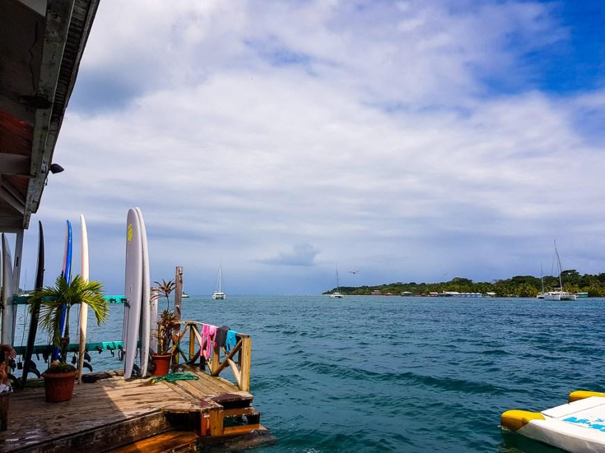 Selina hostel à Bocas del Toro, pratique pour se connecter à internet.