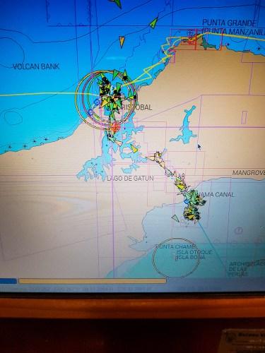 Carte OpenCPN du canal de Panama.