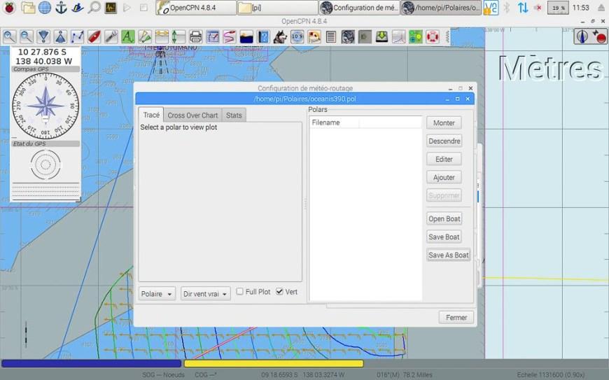Gestion des polaires du bateau pour le routage sous OpenCPN