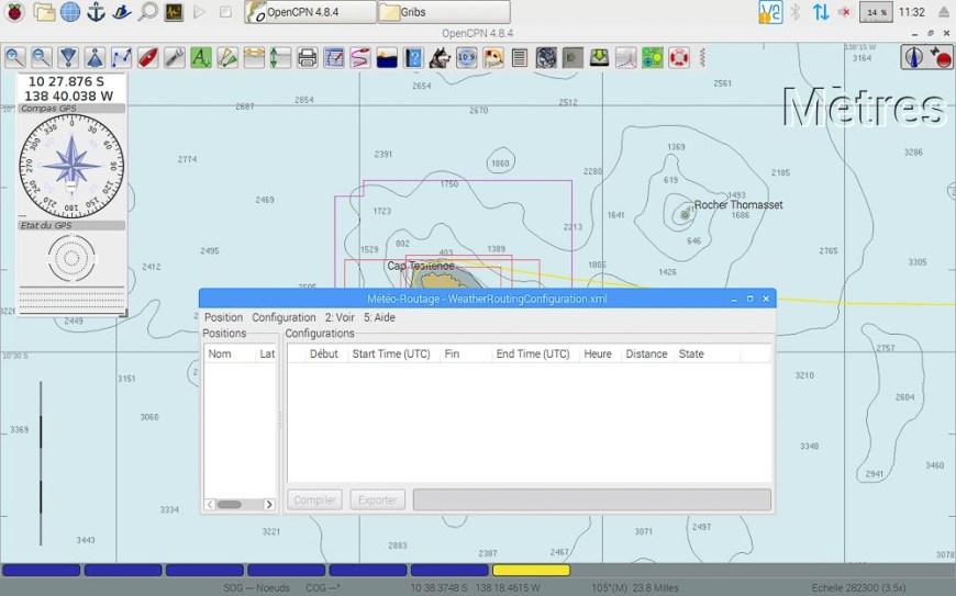 Module de routage sur le logiciel OpenCPN