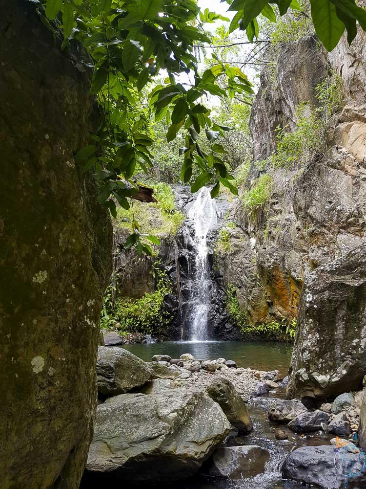 Cascade dans la forêt sur l'île de Ua Pou.