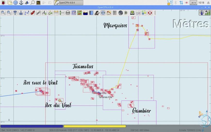 Les différents archipels de la Polynésie française.