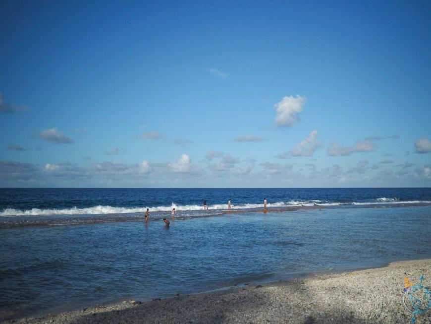 La barrière de corail côté Rotoava à Fakarava.