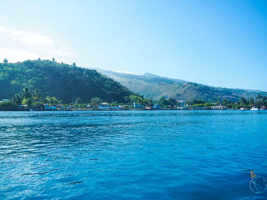 La côte ouest de Tahiti, en dehors du lagon.
