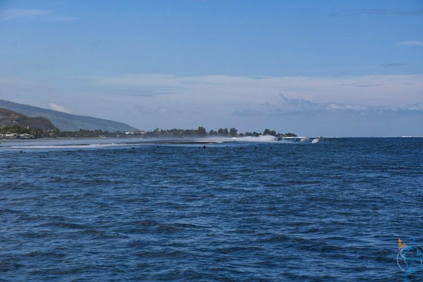 La passe Taapuna à l'ouest de l'île de Tahiti.