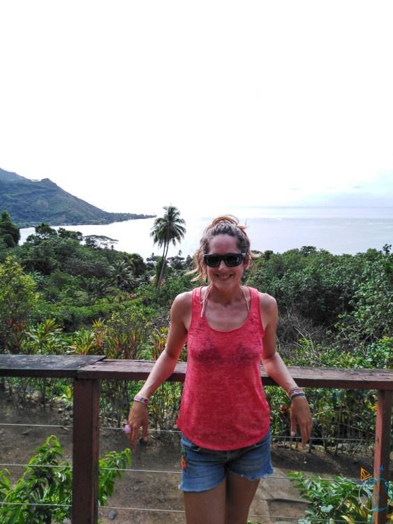Vue depuis le Tropical Garden, sur les pentes du mont Rotui.