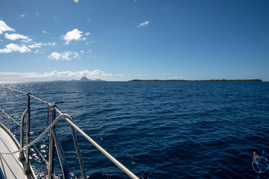Vue sur Bora Bora à l'ouest.