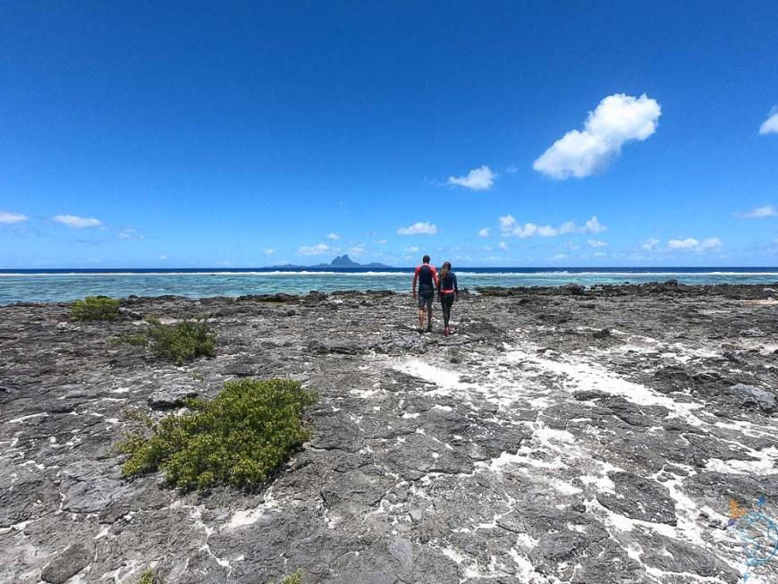 Le platier à l'ouest de Taha'a, face à Bora Bora.