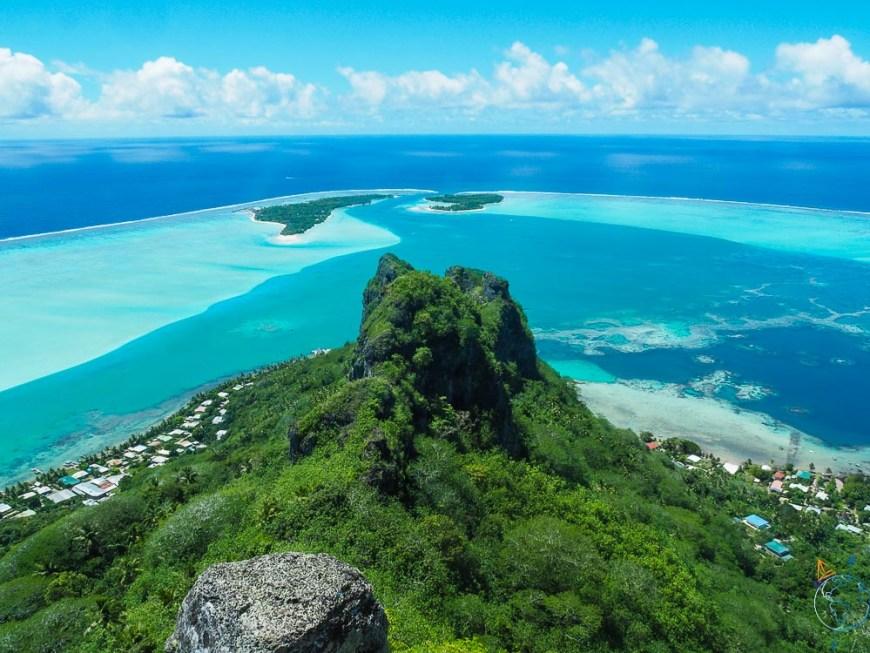 Le mont Teurufaatiu à Maupiti, avec son panorama à 360° sur l'océan Pacifique.