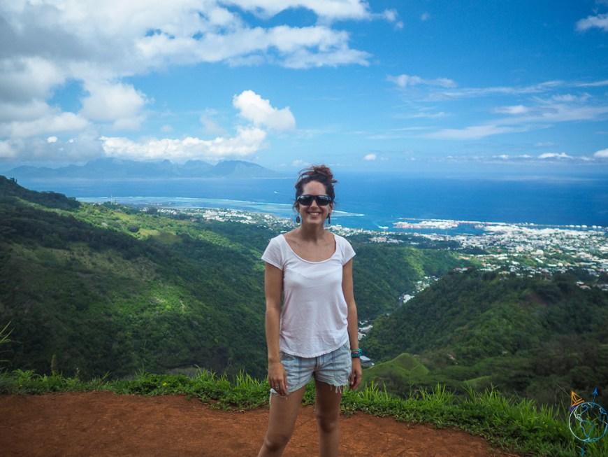 Belvédère de Pirae sur les hauteurs de Tahiti, vue sur le lagon.