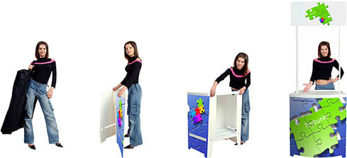 Table Booth  Counter  DISPLAY SYSTEM SUPPLIER  POP UP