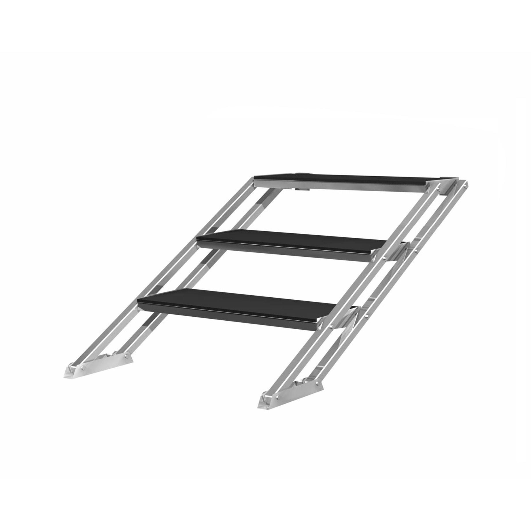 Adjustable 3 Steps Stair For Truss Scaffolding Stage