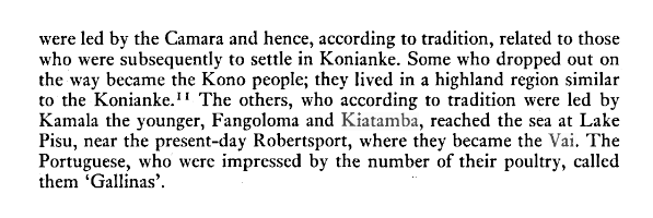 """""""The others, who according to tradition were led by Kamala the younger, Fangoloma and Kiatamba, reached the sea at Lake Pisu,"""" from General History of Africa. Vol 4."""