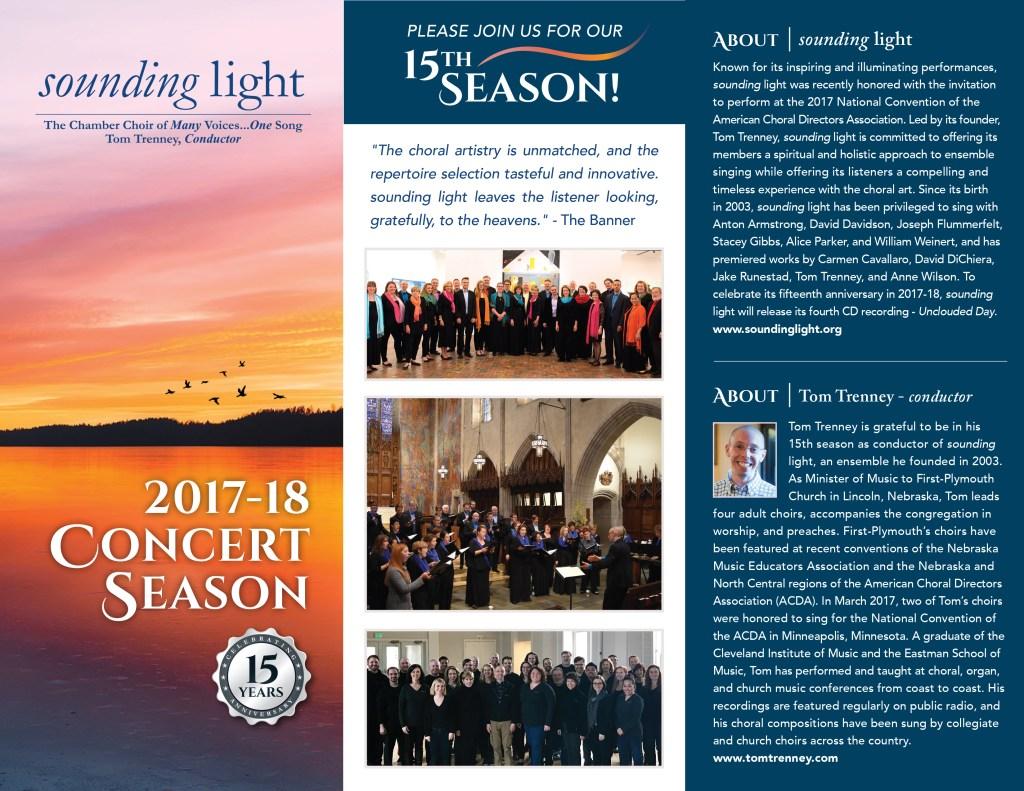 2017-2018 Concert Brochure