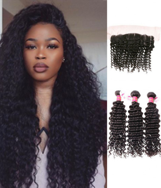3 Bundles Brazilian Virgin Deep Curly
