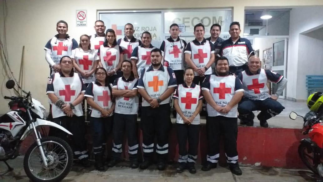 Brinda Cruz Roja Manzanillo atención médica pre hospitalaria gratuita el pasado 15 de septiembre