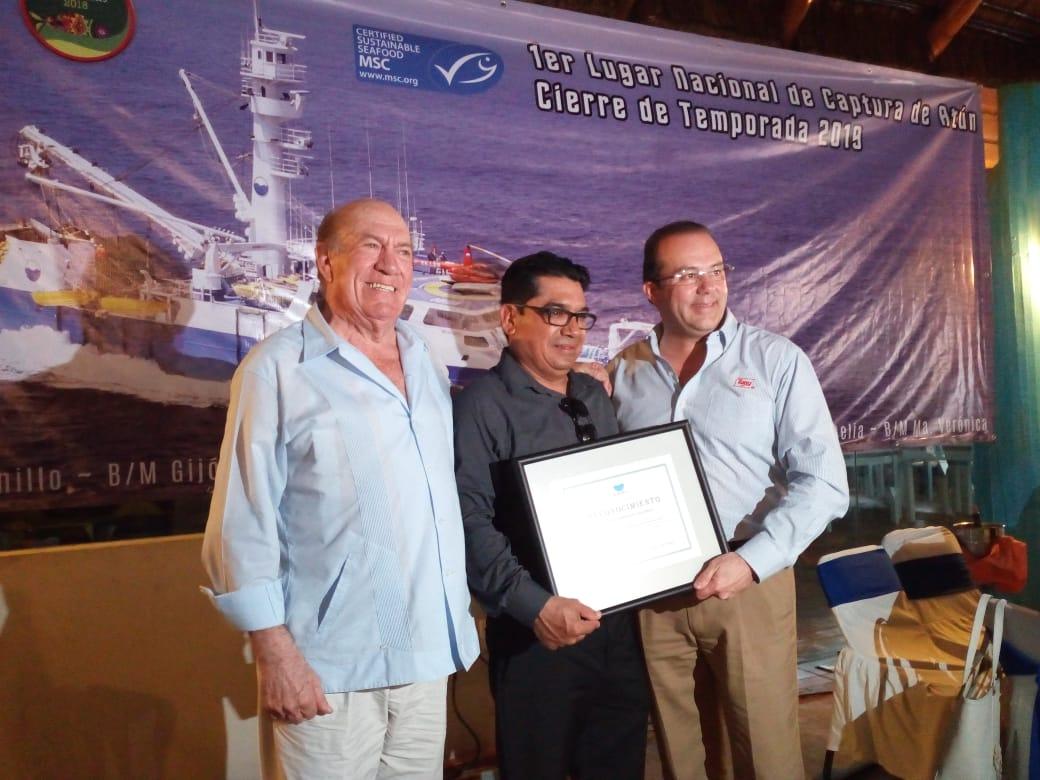 Grupomar reconoce a pescadores por lograr el primer lugar nacional en pesca de atún