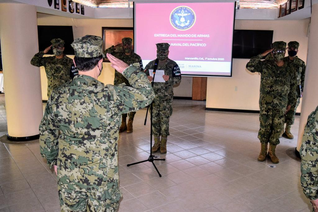 Realiza SEMAR toma de protesta y cambio de mando de armas en la Fuerza Naval del Pacífico