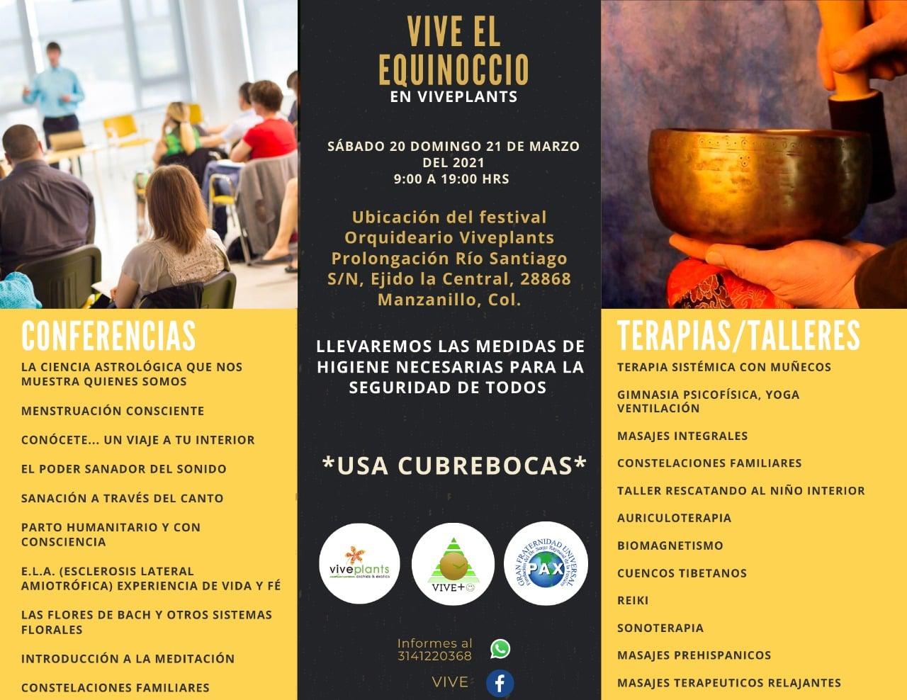 """Viveplants celebra el primer festival """"Vive el Equinoccio"""" en Manzanillo"""