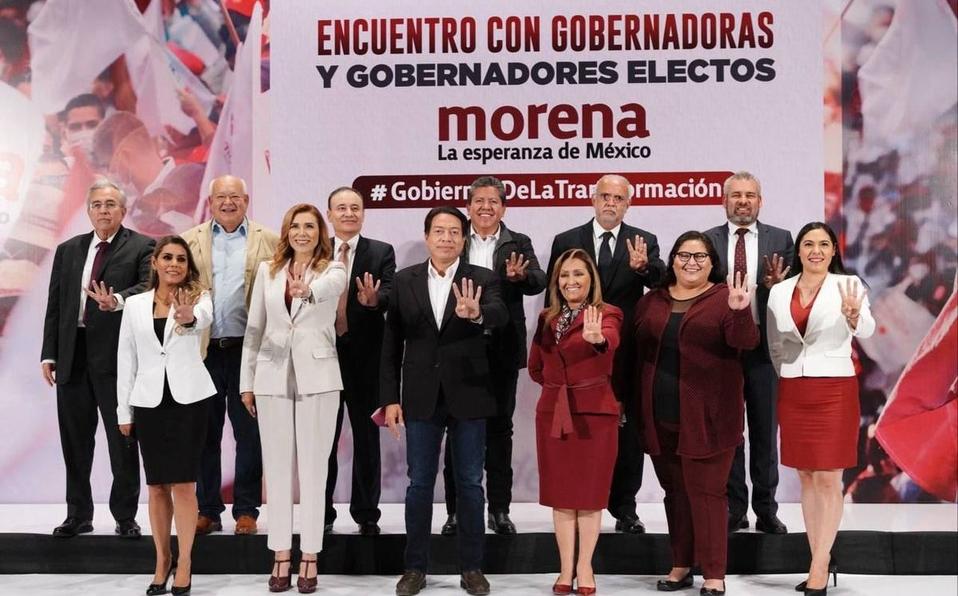 Indira Vizcaíno sostiene encuentro con Gobernadores electos de Morena