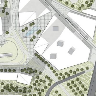 Urbanistický detail integrovanej stanice