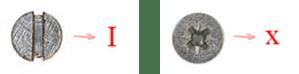 Repare a diferença entre o parafuso de fenda (esquerda) e o tipo Philips (direita)