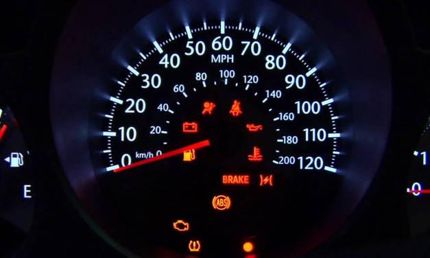 Iluminação do painel de carro