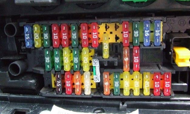 Caixa de fusíveis do seu carro