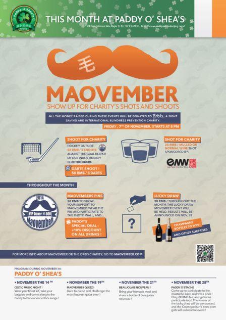 paddy o'shea's maovember 2014 event 1