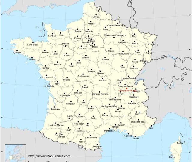 Administrative Map Of Amberieu En Bugey