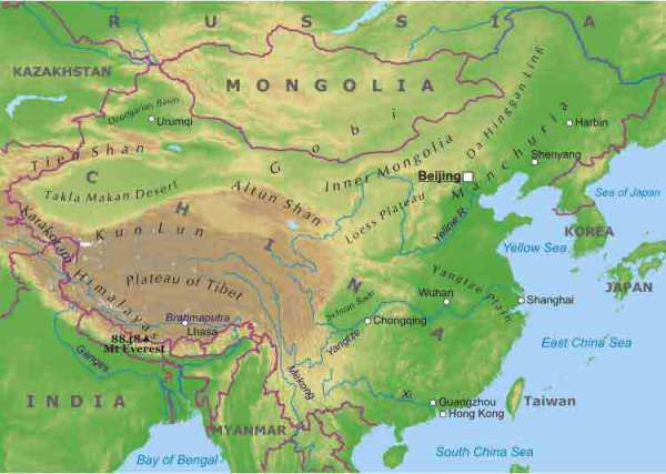 Maps of China Map Library Maps of the World