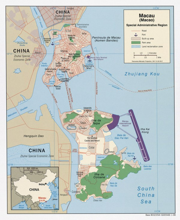 Maps of Macau Map Library Maps of the World