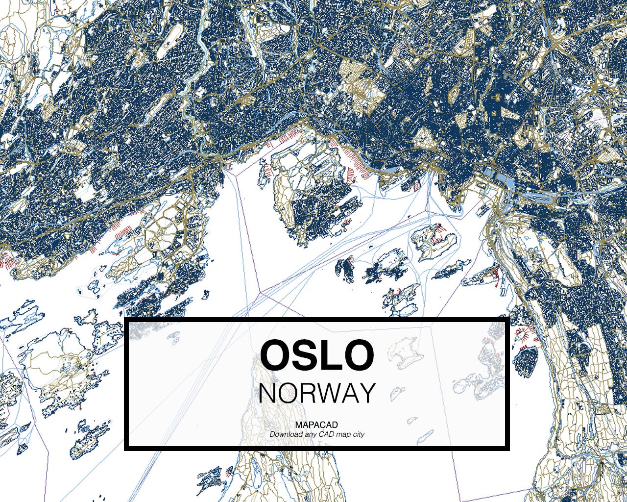 Download Oslo DWG Mapacad - Norway map free download