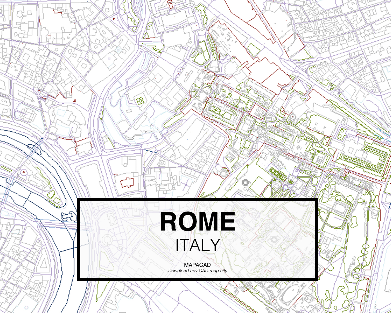 Rome DWG Mapacad - Rome map download