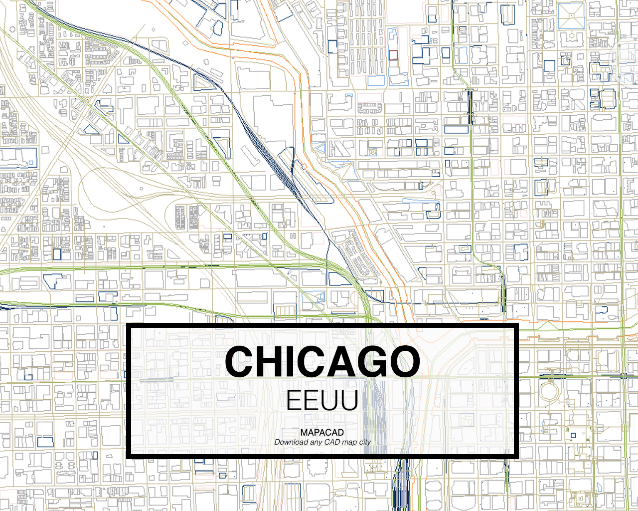 Download Chicago DWG Mapacad - Chicago map download