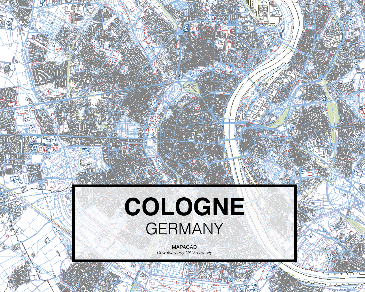 Cologne DWG Mapacad - Germany map download