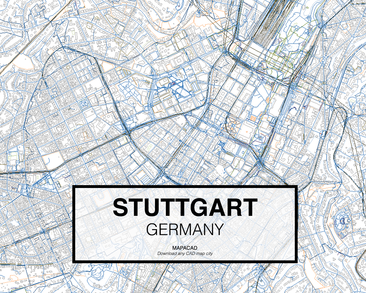 Stuttgart DWG Mapacad - Germany map stuttgart
