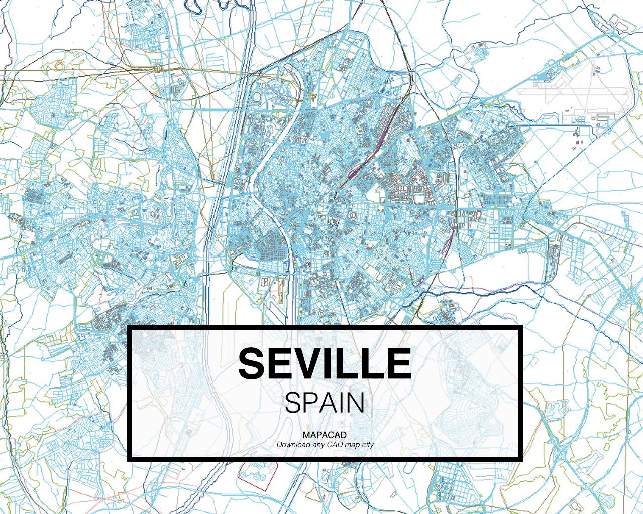 Download Seville DWG Mapacad