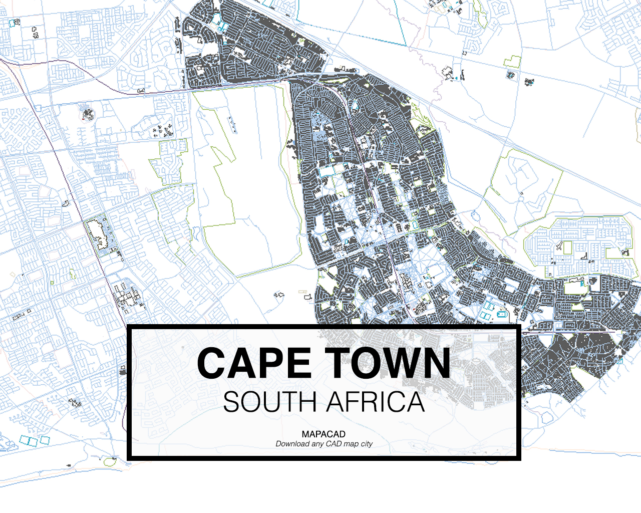 south africa map dwg