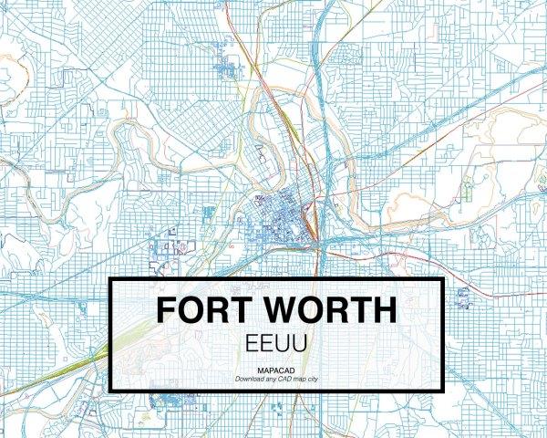 Fort-Worth-EEUU-01-Mapacad-download-map-cad-dwg-dxf-autocad-free-2d-3d