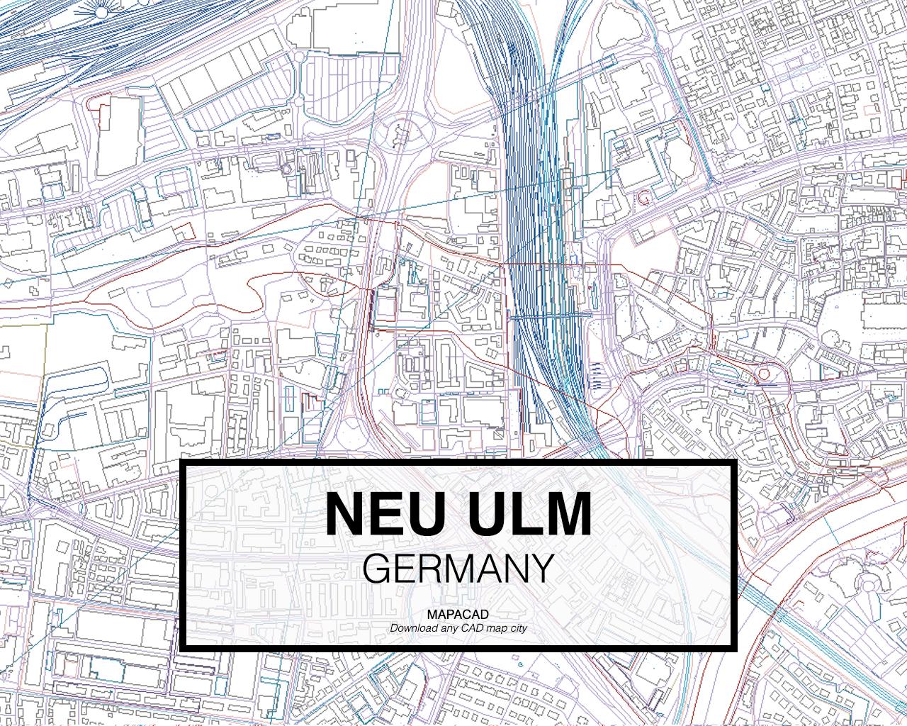 neu ulm germany 03 mapacad download map cad dwg dxf autocad free 2d 3d. Black Bedroom Furniture Sets. Home Design Ideas