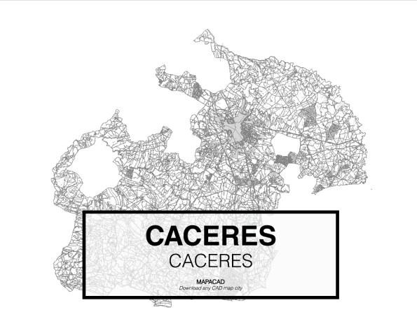 Caceres-Extremadura-01-Mapacad-download-map-cad-dwg-dxf-autocad-free-2d-3d