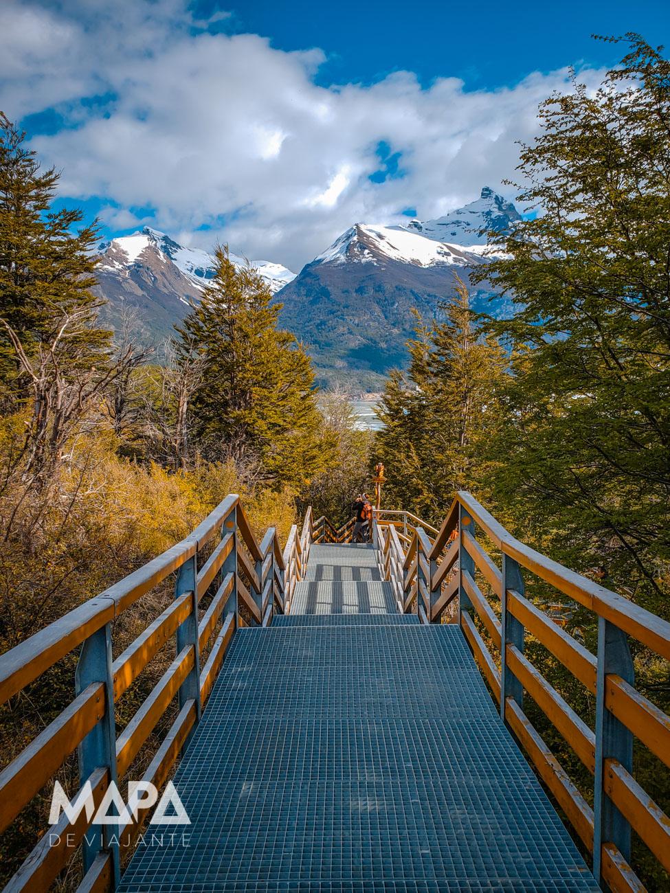 Mapa de Viajante: Passarelas do Parque Los Glaciares