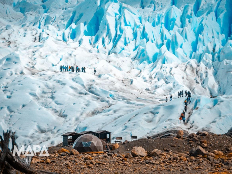 Mapa de Viajante: Base de acesso ao trekking na geleira Perito Moreno